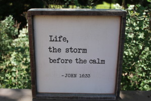 Life, The Storm Before The Calm Wood Sign